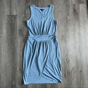 EUC Banana Republic Blue sleeveless V neck dress S